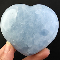 Calcite heart blue 295g