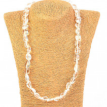 Necklace crystal tumbled stones 53cm