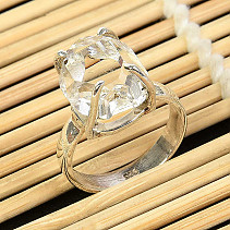 Ring herkimer crystal size 52 silver Ag 925/1000 4,5g