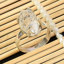 Ring herkimer crystal size 58 silver Ag 925/1000 5,0g