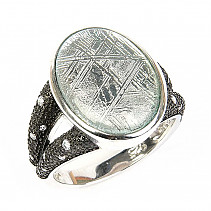 Gibeon meteorite ring silver Ag 925/1000 size 50