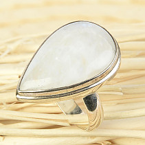 Moonstone ring drop size 55 Ag 925/1000 7.8g