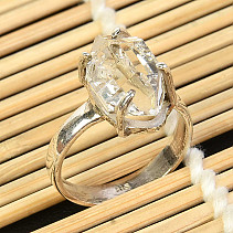 Crystal herkimer ring Ag 925/1000 size 58 4,9g