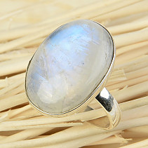 Ring moonstone oval size 59 Ag 925/1000 6,7g