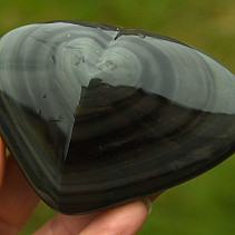 Obsidian rainbow heart from Mexico 169g