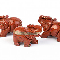 Jasper red elephant for good luck