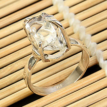 Crystal herkimer ring Ag 925/1000 size 58 5,2g