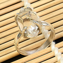 Crystal herkimer ring Ag 925/1000 size 60 5,3g