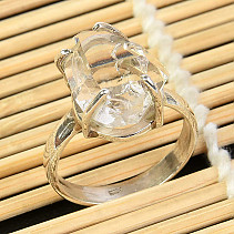 Ring herkimer crystal size 61 Ag 925/1000 5,8g