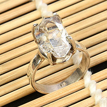 Crystal herkimer ring Ag 925/1000 size 52 4,3g