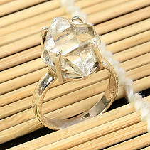 Ring herkimer crystal size 58 silver Ag 925/1000 5,2g