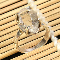 Crystal herkimer ring Ag 925/1000 size 55 4,9g