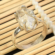 Ring herkimer crystal size 60 silver Ag 925/1000 5,0g