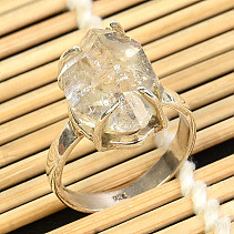 Crystal herkimer ring Ag 925/1000 size 58 5,9g