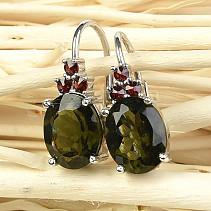 Earrings and shells 10x8mm Ag 925/1000 standard cut