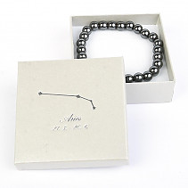 Aries hematite bracelet in a gift box