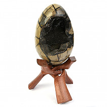 Septarie dragon egg (Madagascar) 3728g + stand