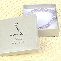 Fish amethyst bracelet in gift box