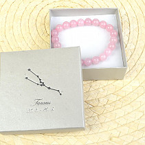 Bull rose quartz in a gift box