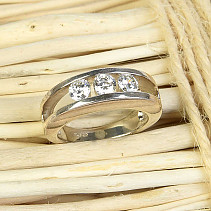Silver ring for women with cubic zircons Ag 925/1000