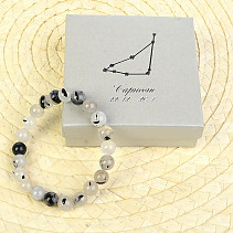Capricorn bracelet tourmaline in crystal in gift box