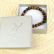 Virgo tiger eye bracelet in gift box