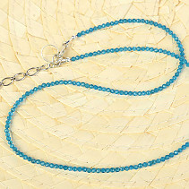 Necklace blue apatite balls cut