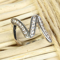 Ladies' Silver Ring Ag 925/1000 size 50 (3,3g)