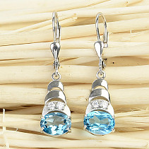 Blue topaz pendant earrings Ag 925/1000 2,9g