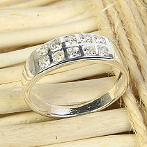 Ring with zircons size 53 Ag 925/1000 2,7g