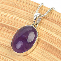 Pendant with amethyst silver Ag 925/1000 4,8g