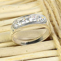 Silver ring with zircons Ag 925/1000