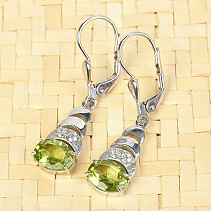 Olivine pendant earrings standard cut Ag 925/1000