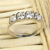 Ring for women with zircons Ag 925/1000 size 54 (2,0g)