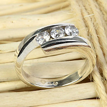 Ring with zircons Ag 925/1000 size 57 5,6g