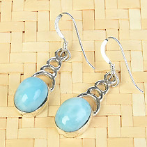 Larimar silver earrings larimar QA Ag 925/1000