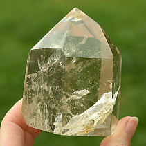 Crystal with limonite toe cut (330g)