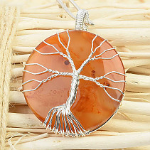 Agate pendant tree of life biž (16,5g)