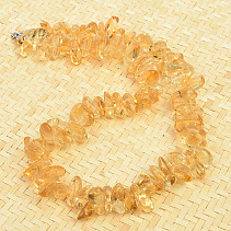 Citrine necklace smooth pieces 44cm