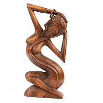 Wooden statue of a woman 40cm