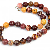Mookait necklace beads larger 14mm 50cm Ag clasp