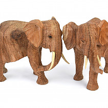 Elephant carved two colors of wood 1500g