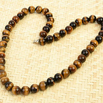 Tiger eye ball necklace 10mm 53cm