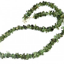 Moldavite necklace Ag clasp