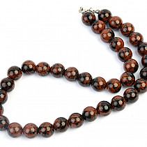 Obsidian mahogany beads 12mm necklace 46cm