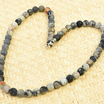 Jasper piccasso necklace beads 48cm