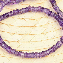 Amethyst facet bracelet button 5mm