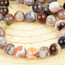 Ball agate bracelet 13mm