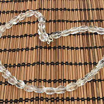 Crystal Oval Necklace Cut 45cm (Ag Clasp)