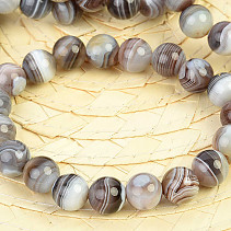 Ball agate gray bracelet 10mm